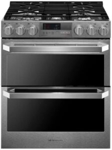 LG LUTD4919SN 7.3 Cu.ft. Dual Fuel - Double Oven Range with ProBake Convection